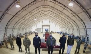 Covid-19: El Gobierno inauguró un centro de aislamiento para pacientes infectados