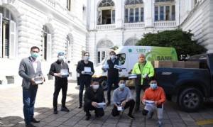 La Plata: Representantes de la Comunidad China donaron 30 mil barbijos para la Comuna