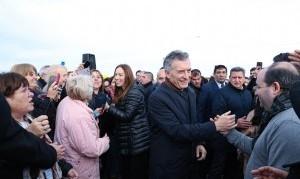 Macri y Vidal inauguraron un nuevo tramo de la Ruta Nacional N° 7
