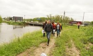 Esteban Echeverría: Gray recorrió las zonas afectadas