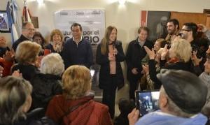 Vidal se reunió con la militancia de Juntos por el Cambio en Miramar