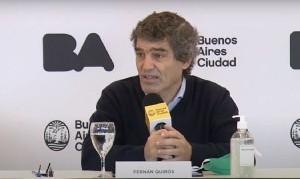 Quirós resaltó que la movilidad en la Ciudad descendió entre el 25 y 33%
