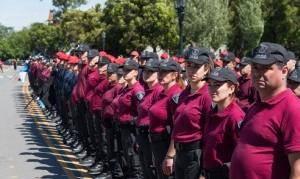 Con un desfile, la Policía de la Ciudad celebró su tercer aniversario