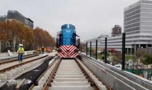 Comenzaron las pruebas con trenes en el viaducto San Martín