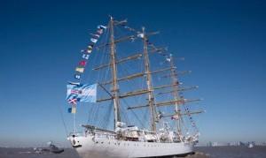 La Fragata Libertad regresa a la Argentina tras cinco meses de travesía