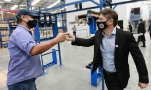 La fábrica inaugurada por Kicillof en Ezeiza brindará trabajo a 200 personas y permitirá sustituir importaciones
