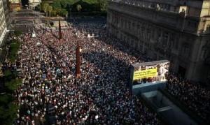 A 5 años de la muerte de Nisman, miles de personas marcharon en Capital Federal