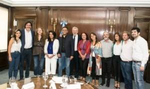 Legisladores porteños del Frente de Todos fueron recibidos por Juan Cabandié