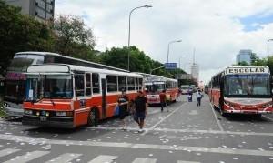 El Gobierno porteño multó a 95 micros durante la marcha de los trabajadores populares