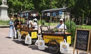 Alimentos en movimiento: La Feria en Bici se instala en distintas plazas de la Ciudad