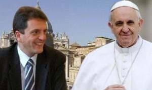 """Massa aseguró que el Papa Franscisco """"ya está ayudando al gobierno"""""""