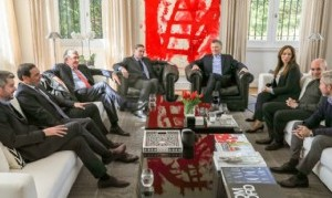 Hermético almuerzo de Macri  con gobernadores propios
