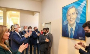 Alberto homenajeó a Néstor Kirchner en el CCK